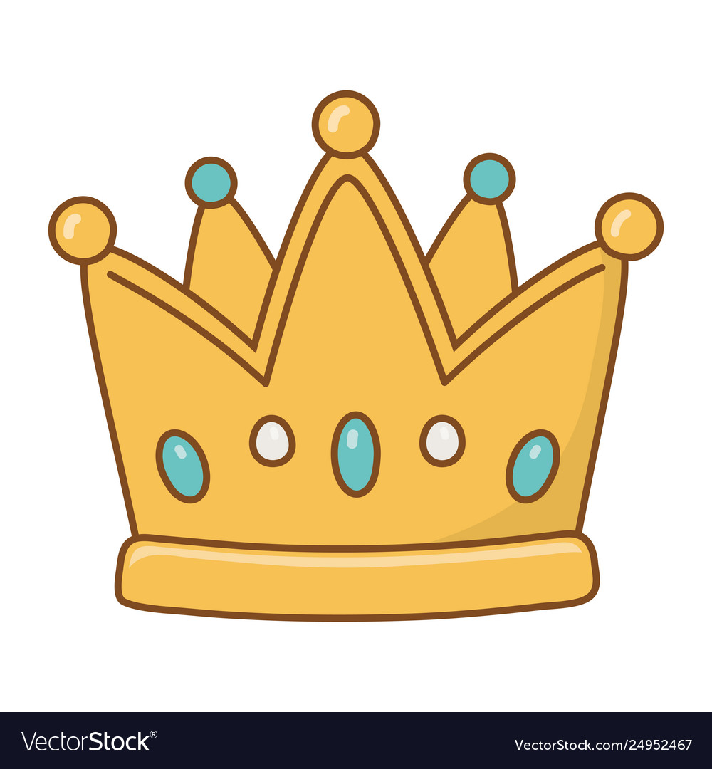 Crown Icon Cartoon Royalty Free Vector Image Vectorstock Cartoon princess crown vector material, crown clipart, cartoon, crown princess png and click download buttons and get our best selection of noble crown picture material png images with. vectorstock