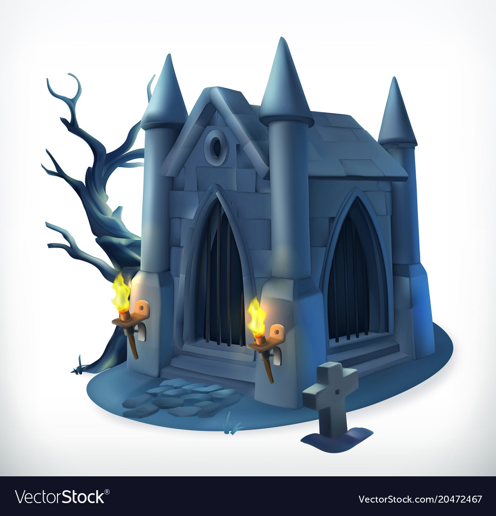 Crypt happy halloween 3d icon