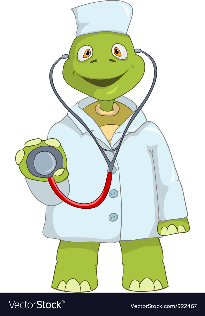 Funny Turtle Doctor vector image