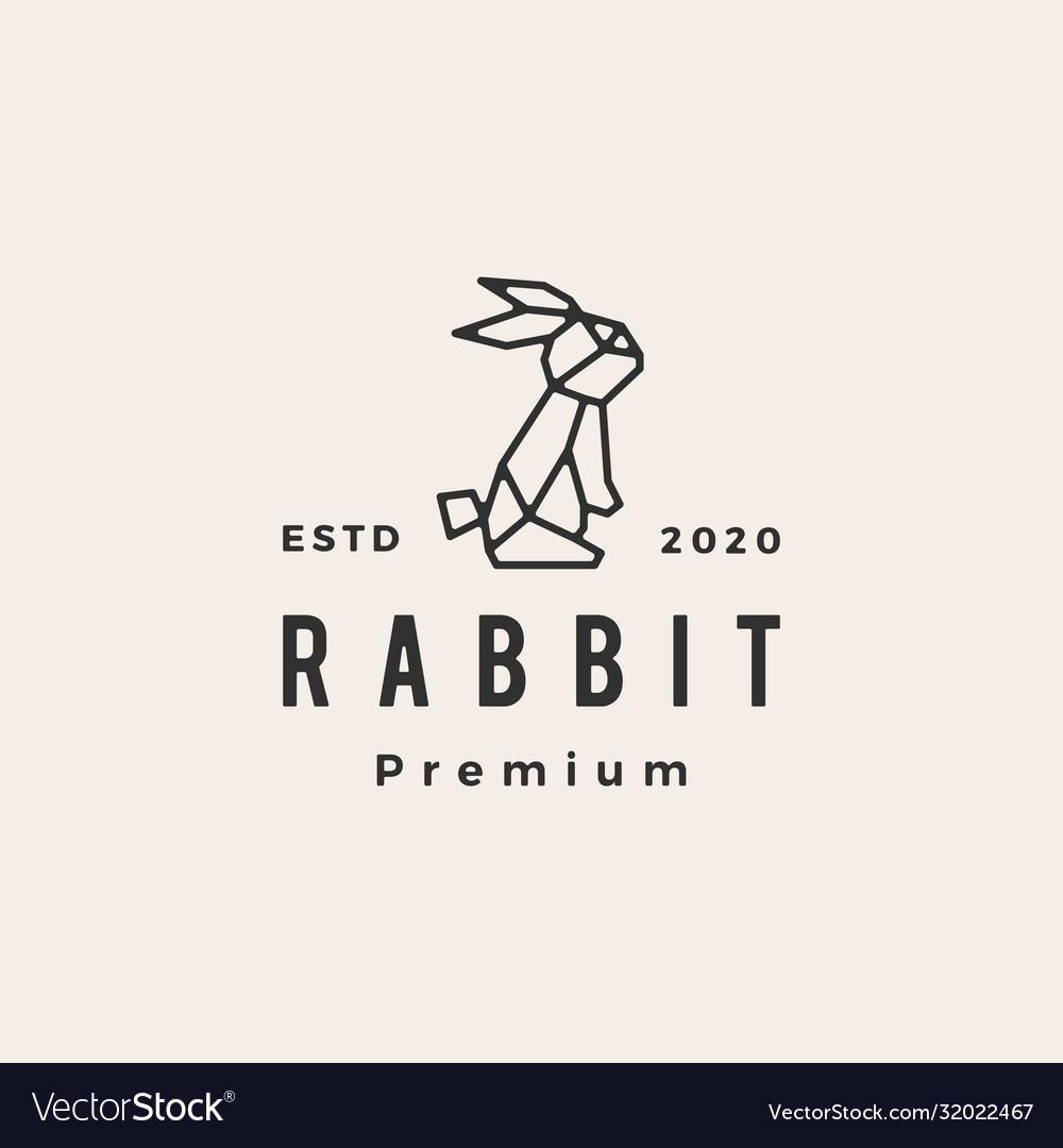 Geometric rabbit hare bunny hipster vintage logo