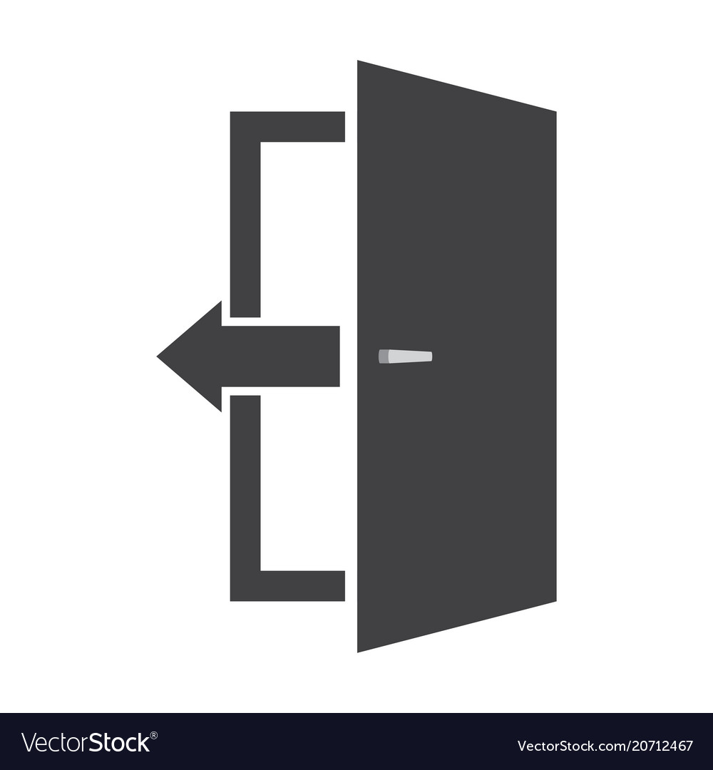 Logout icon in flat style
