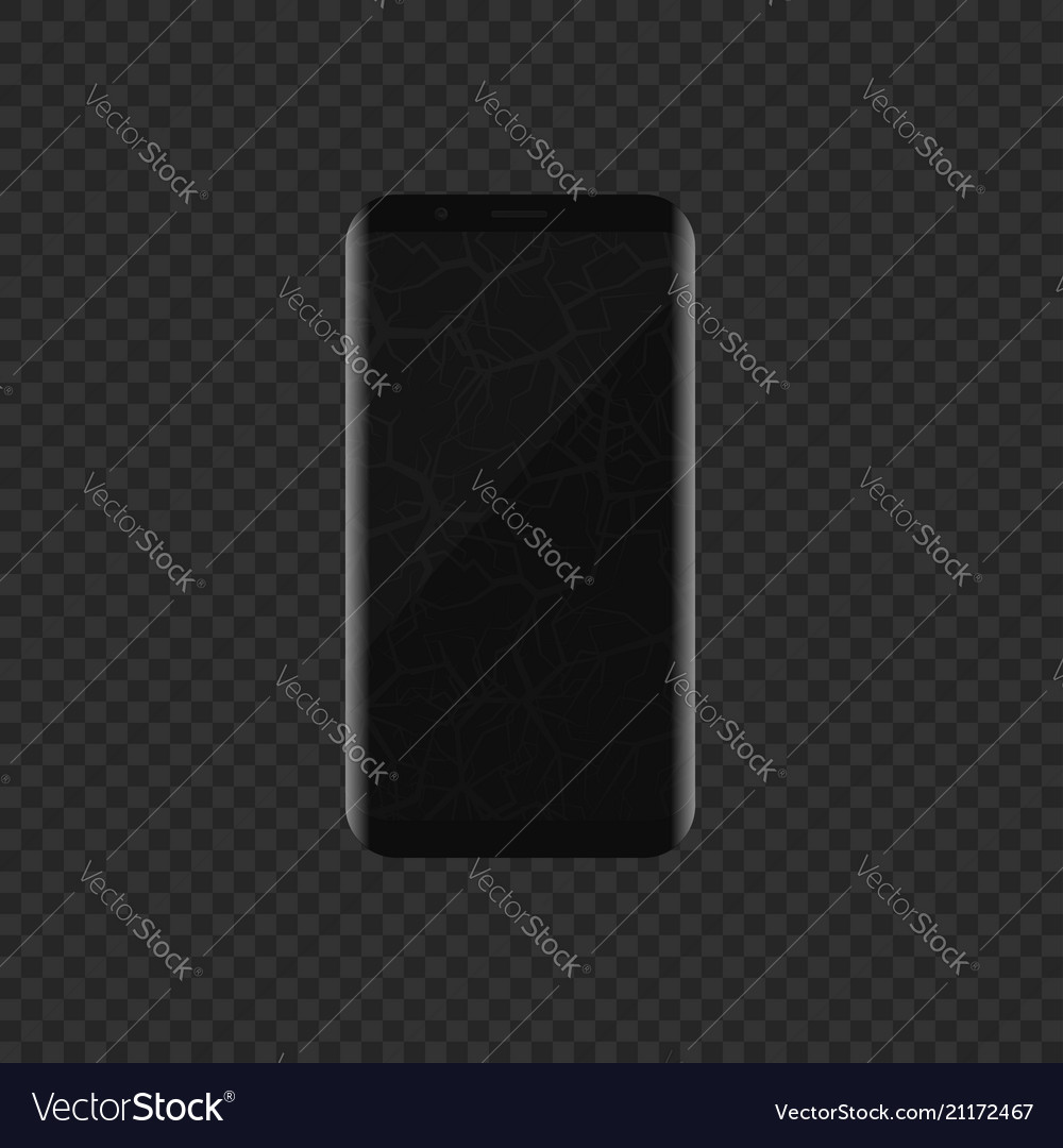 Smartphone with broken display