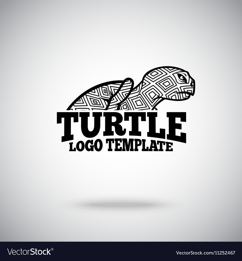 Turtle logo template for sport teams