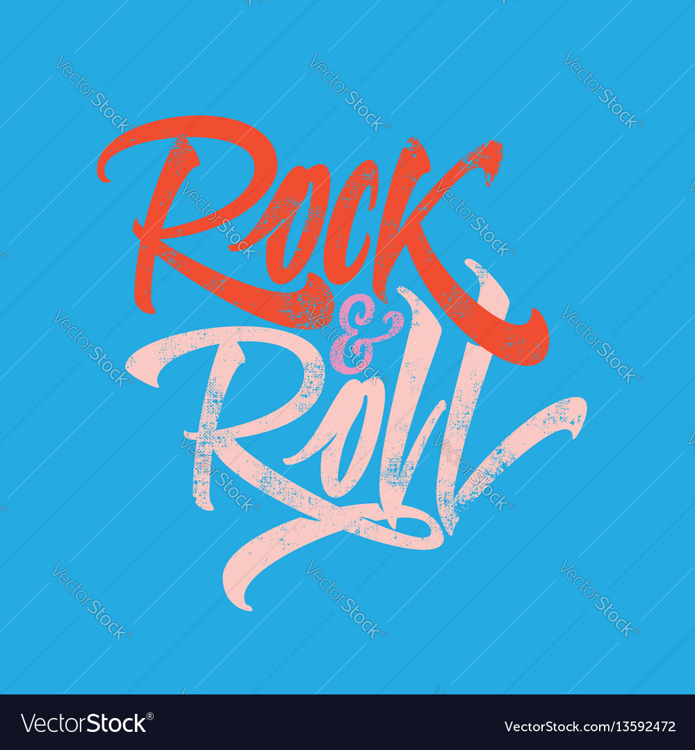 Inscription rock and roll for the poster t-shirts