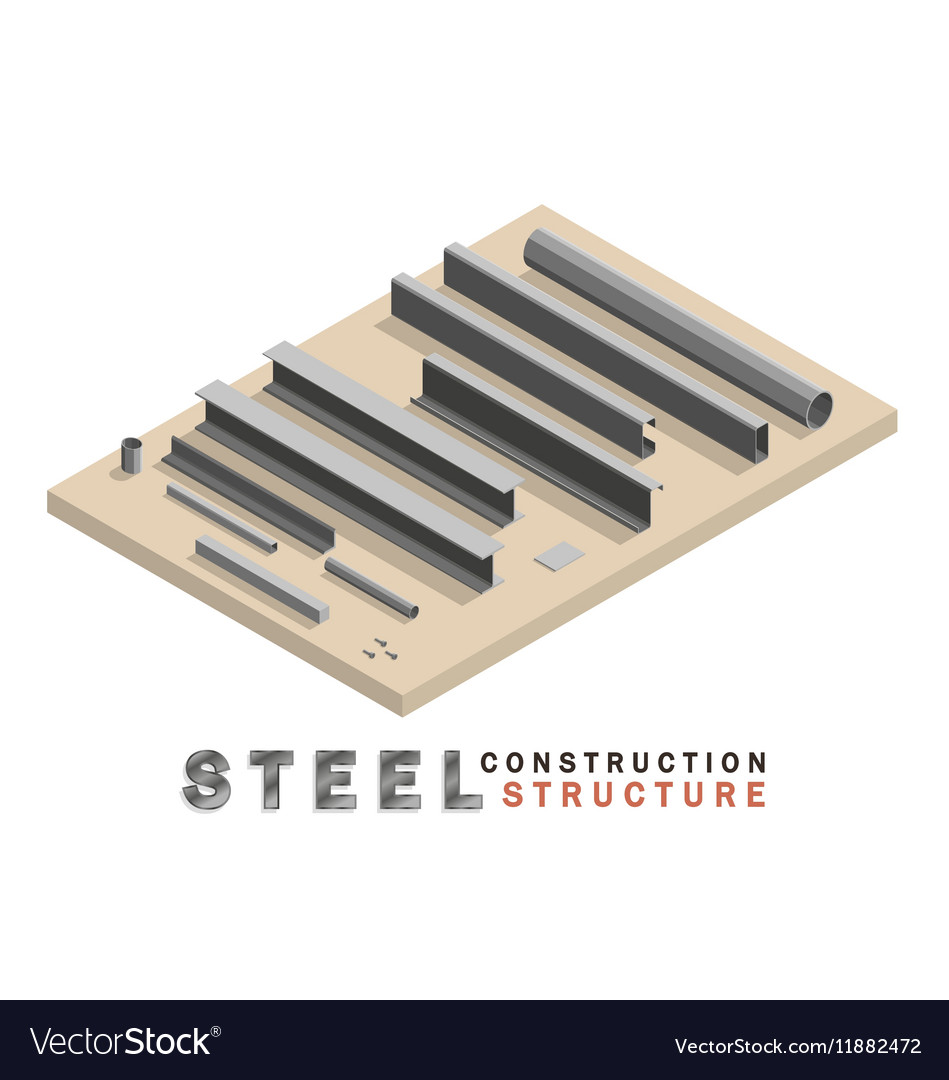 Many shape section steel isometric