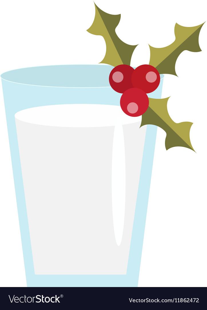 Milk for Santa icon Isolated on white
