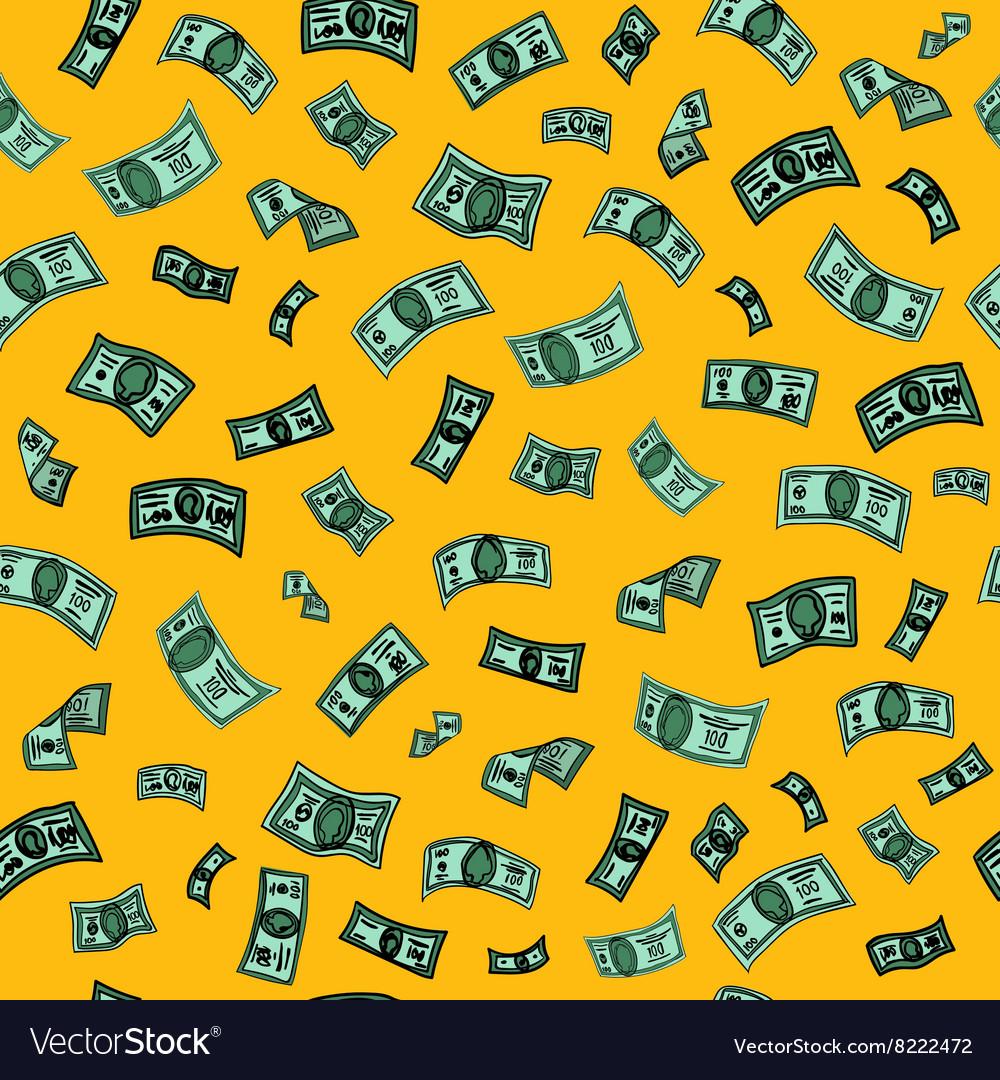 Money Background Dollar Seamless Pattern vector image