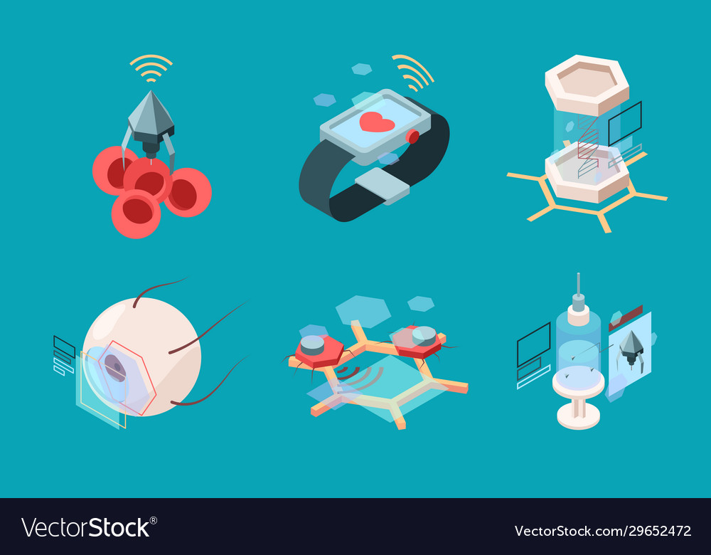Nanotechnology isometric bio modern medical