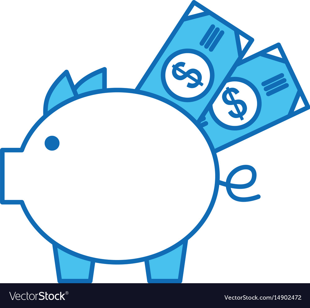 Piggy savings with bills