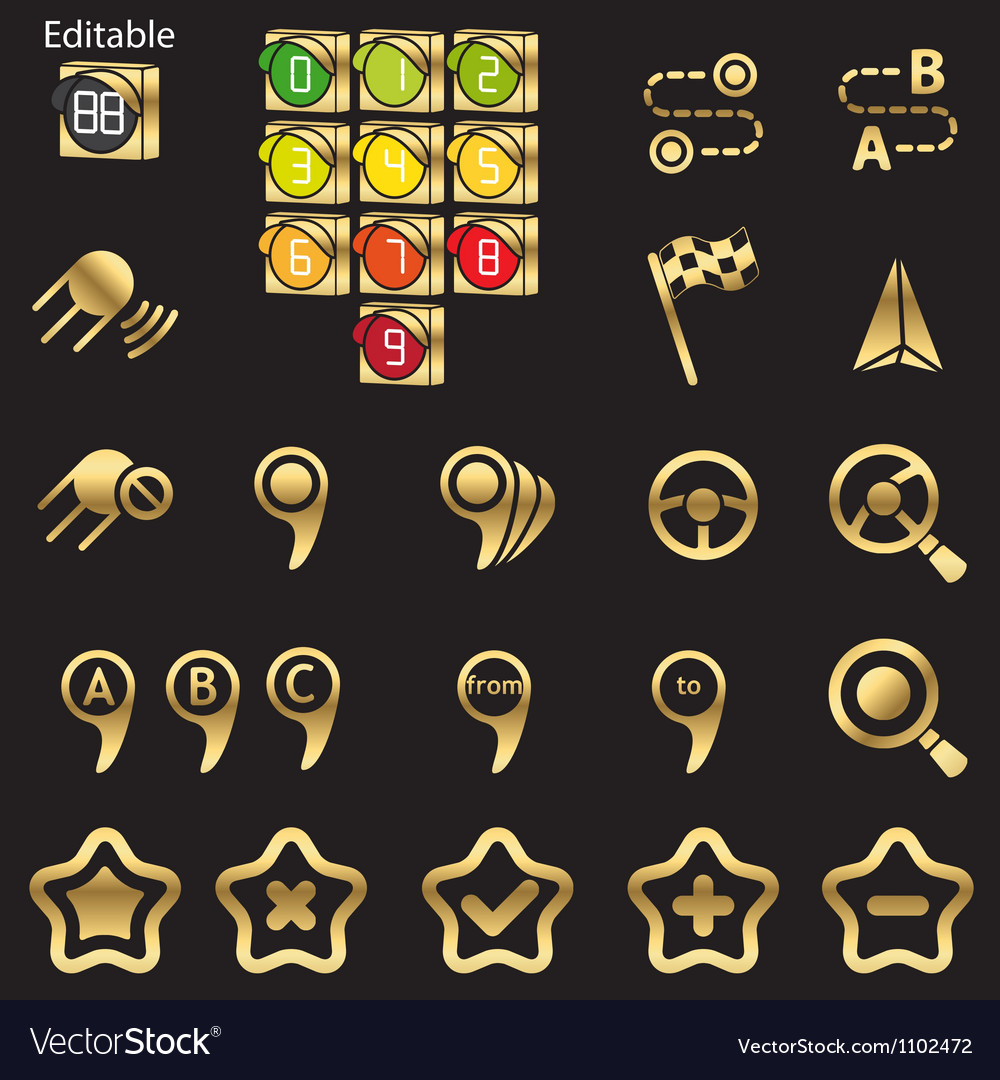 Set of navigational icons