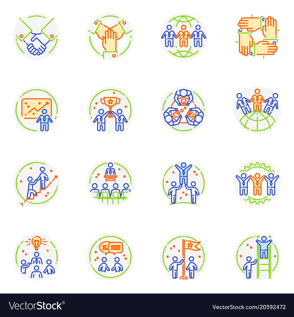 Teamwork icon teambuilding logo and vector image