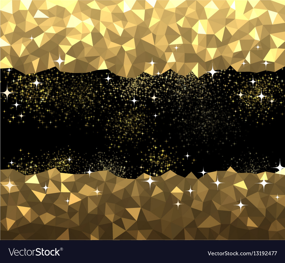 Black And Golden Abstract Background
