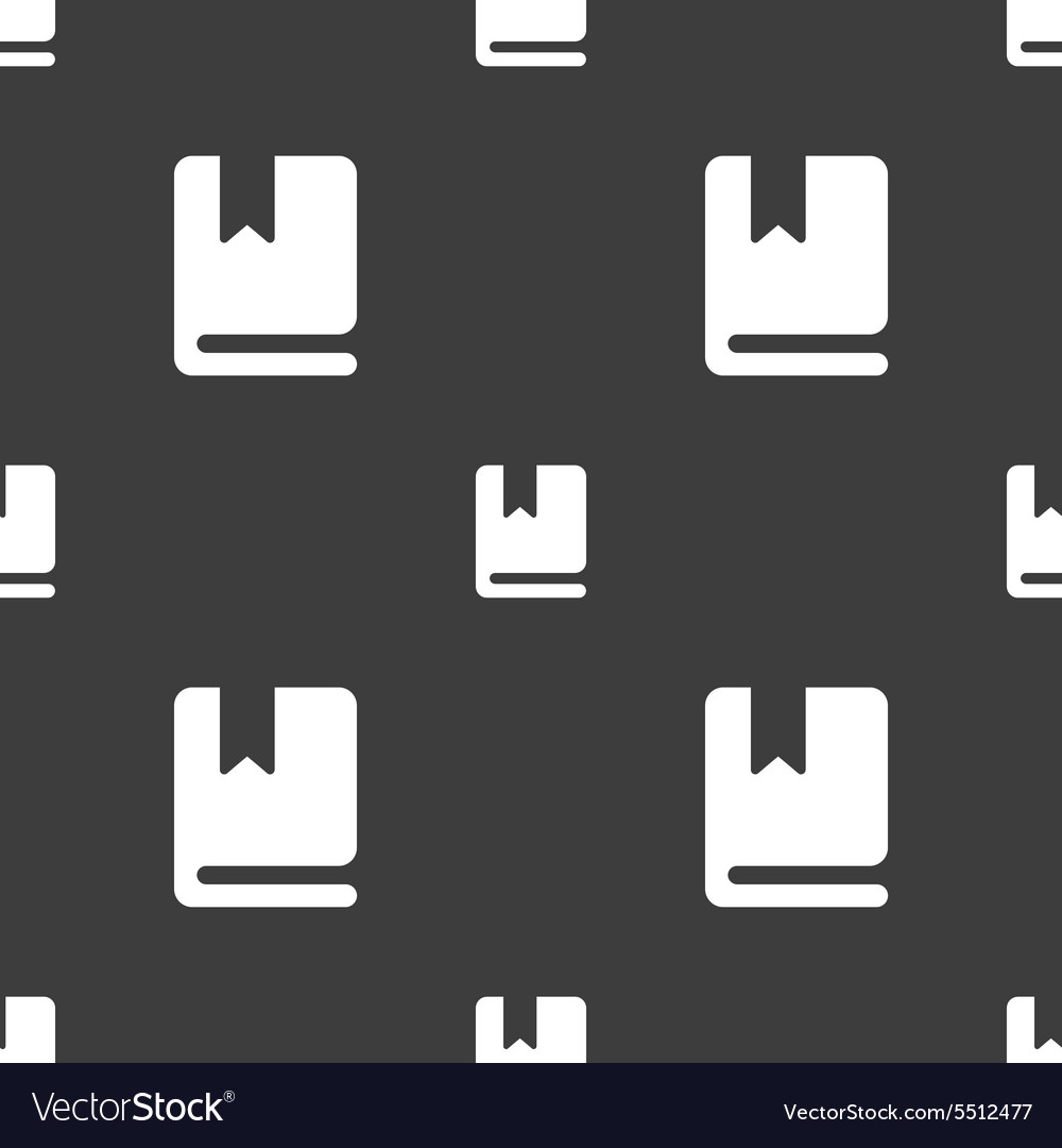 Bookmark icon sign Seamless pattern on a gray