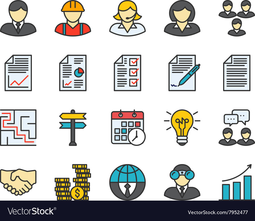 Business Colored Icons