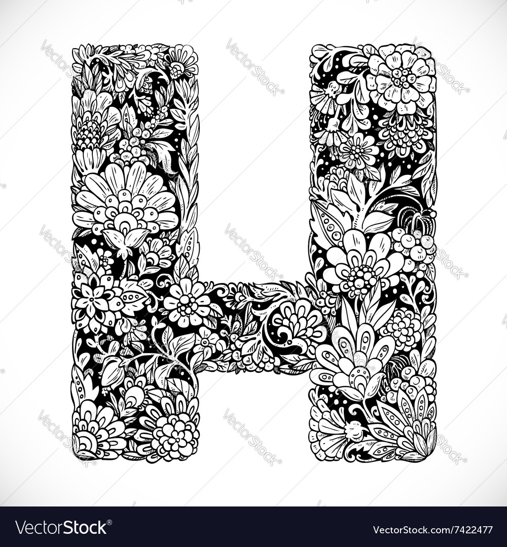 Doodles Font From Ornamental Flowers