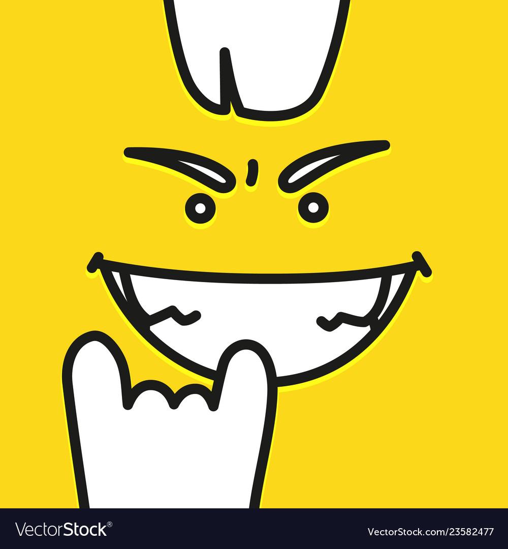 Emoji cool smiley face design art