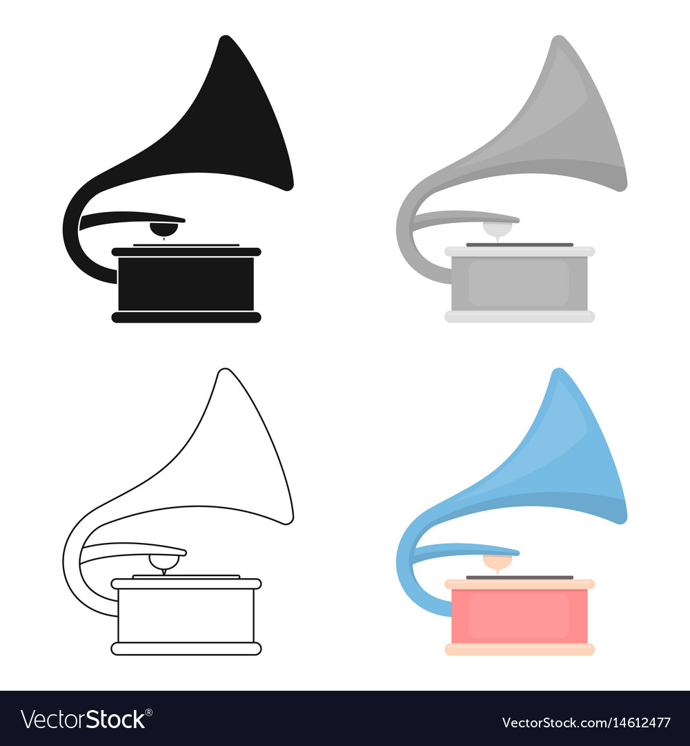 Gramophone icon of for web and