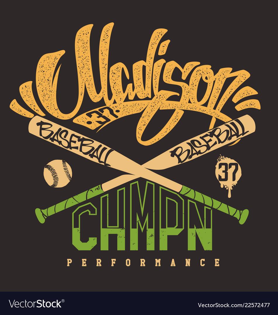 Madison baseball club print for sportswear