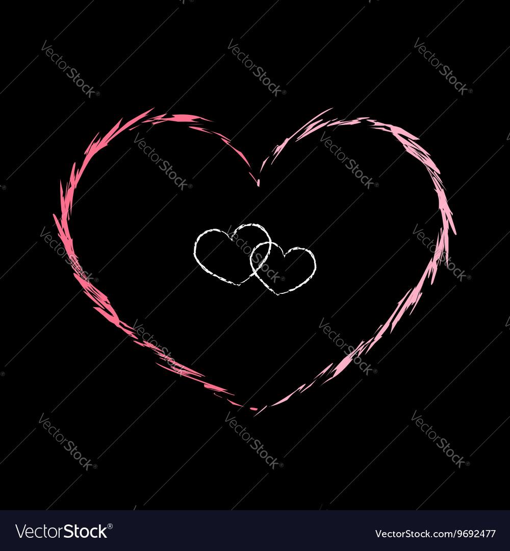 Red heart icon grunge 2