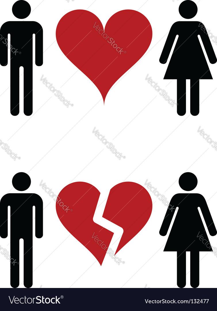 Romantic relationships vector image