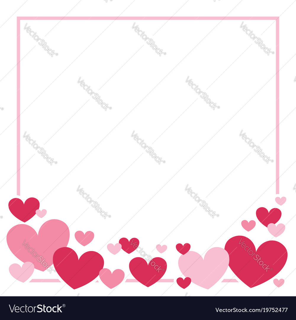 valentines day heart border background royalty free vector rh vectorstock com heart border free heart border template