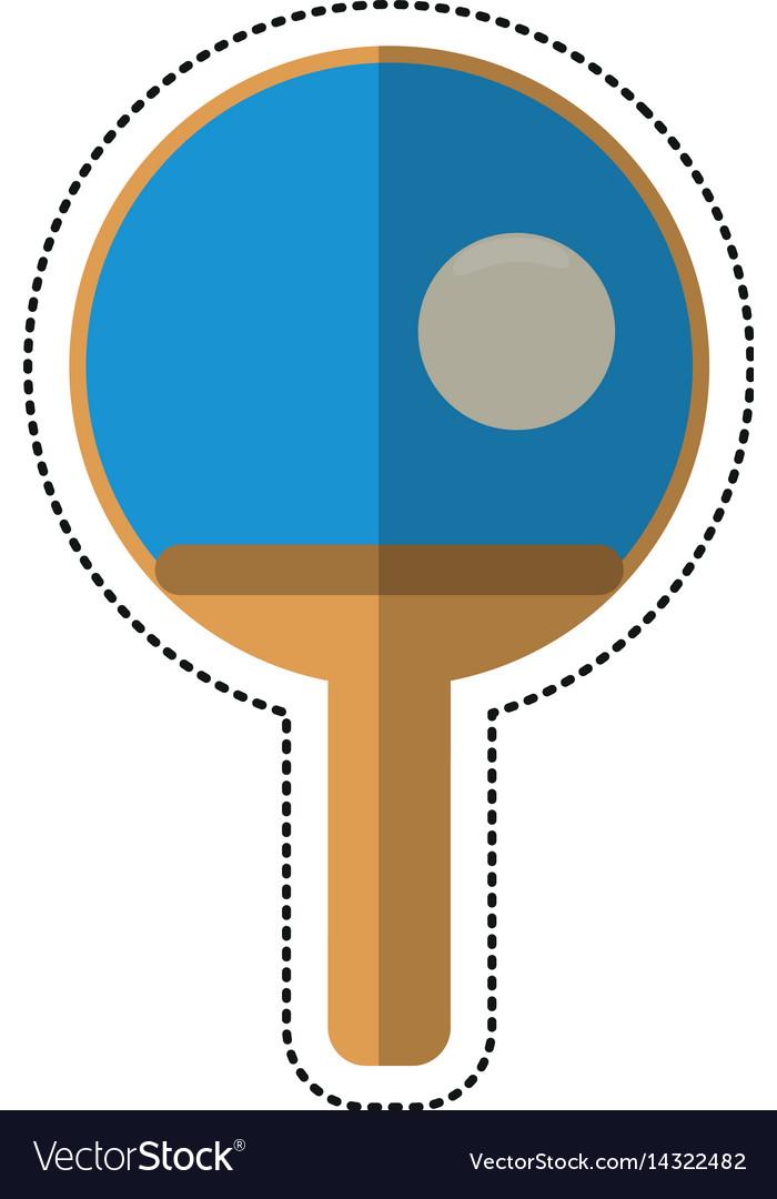 Cartoon ping pong paddle ball