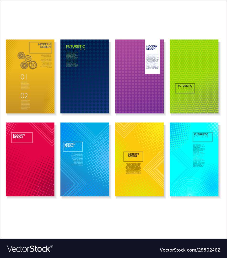 Halftone dots modern colorful design future