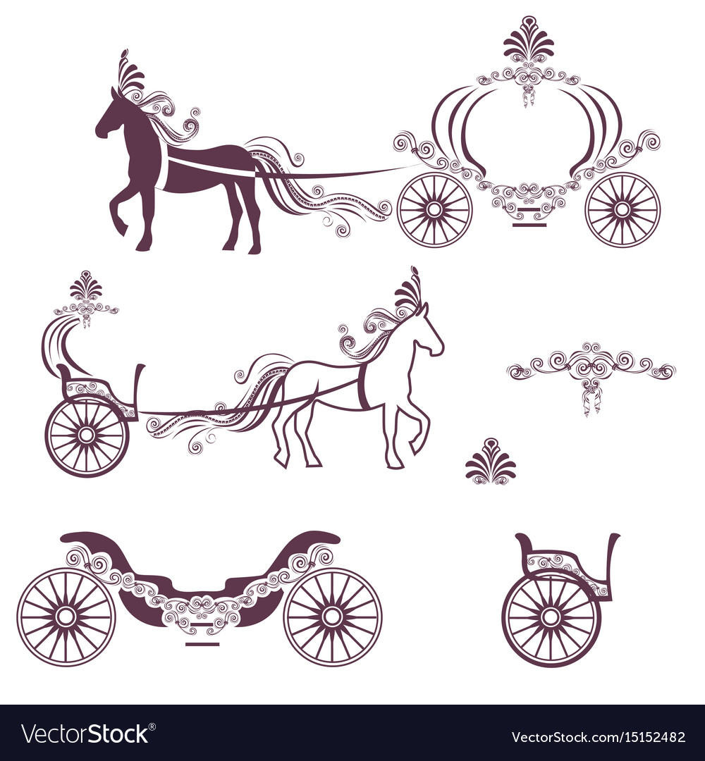 Horse with a carriage
