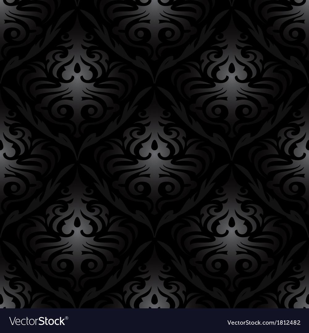 seamless black silk wallpaper pattern vector 1812482
