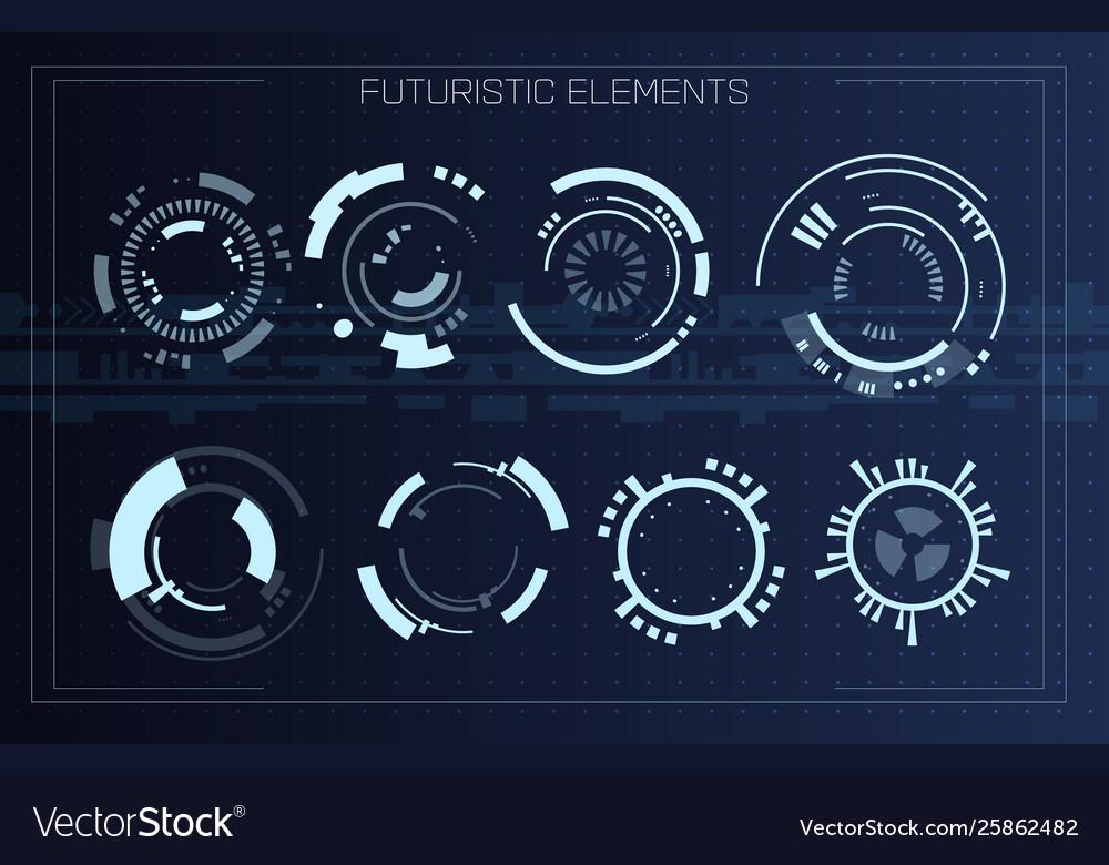Technology futuristic modern user interface circle