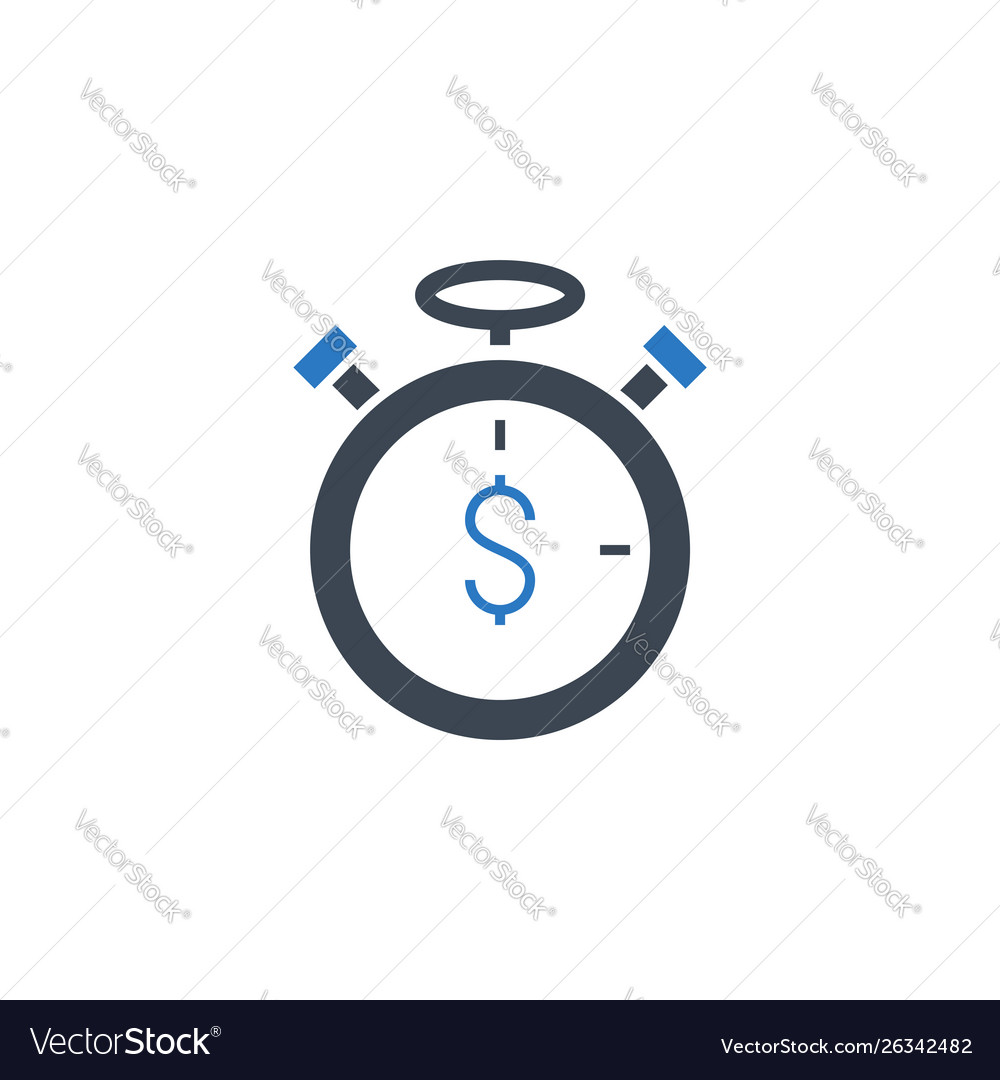 Time is money related glyph icon