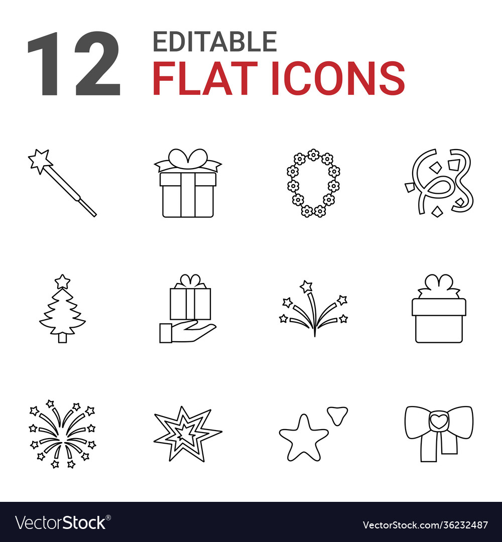 12 xmas icons