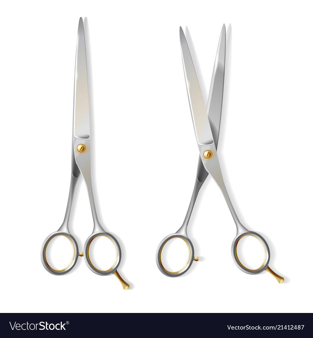3d realistic scissors for hairdresser