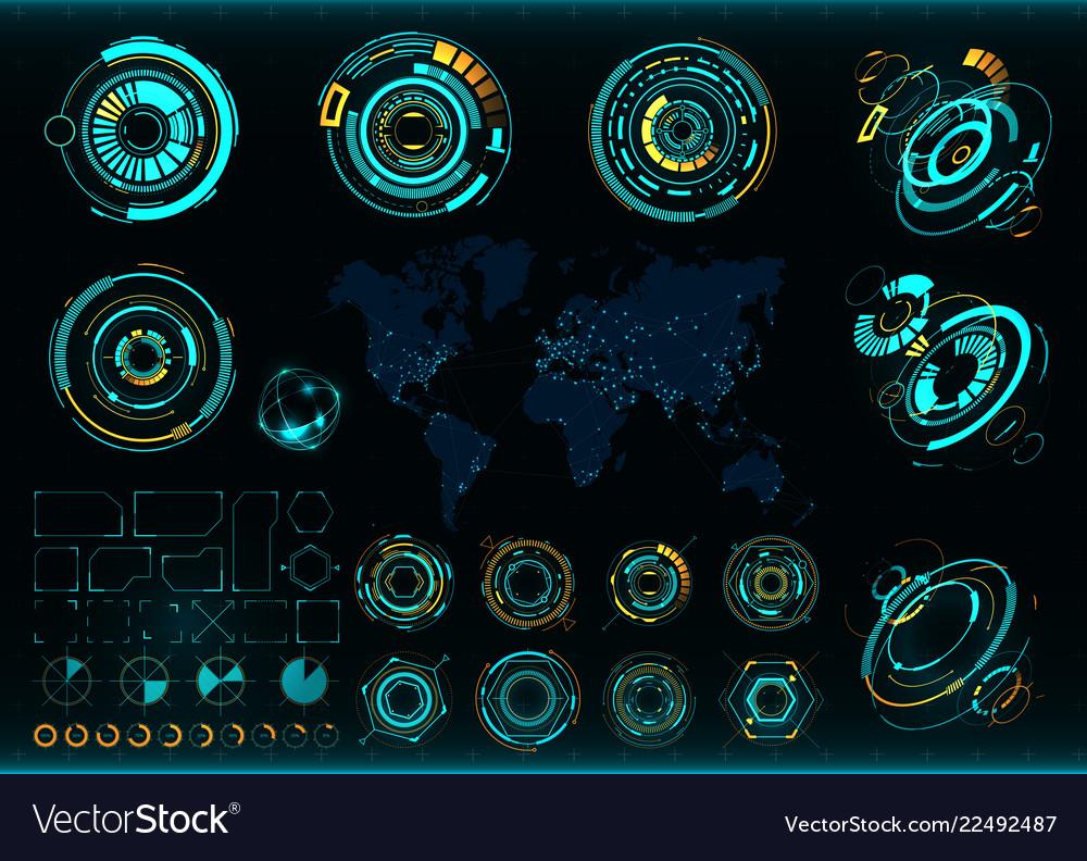 Abstract future concept futuristic interface