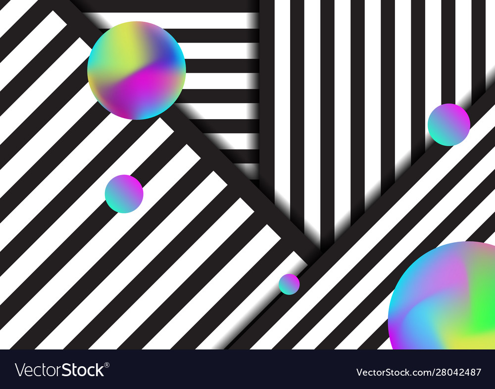 Abstract stripe black and white lines pattern