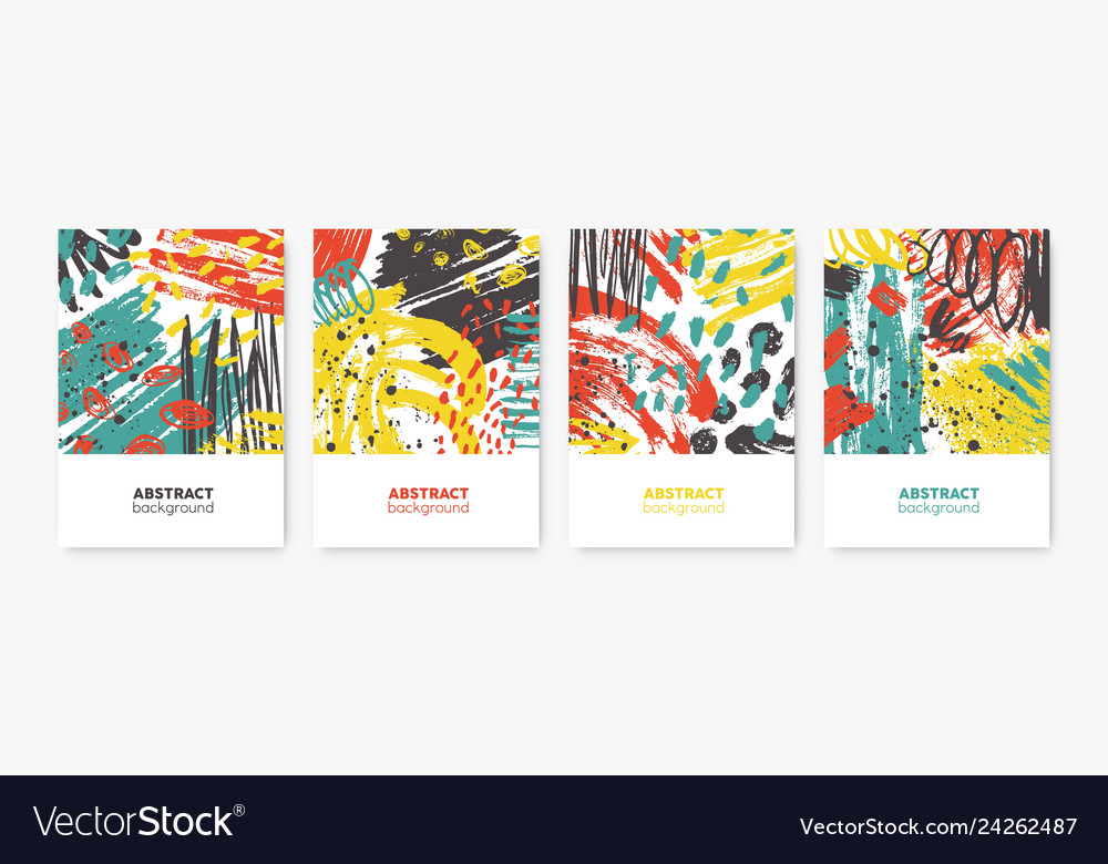 Collection of decorative card flyer or poster