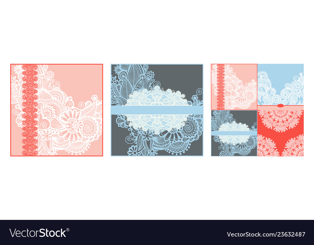 Collection of modern ornamental template