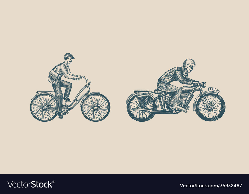 Motorcycle for biker club templates a man on a