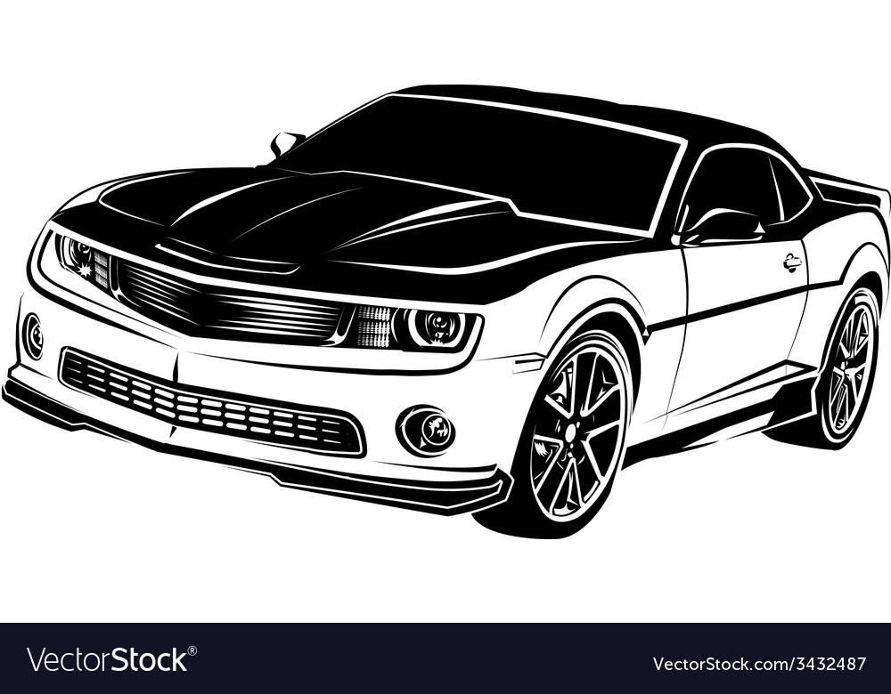 Muscle american car