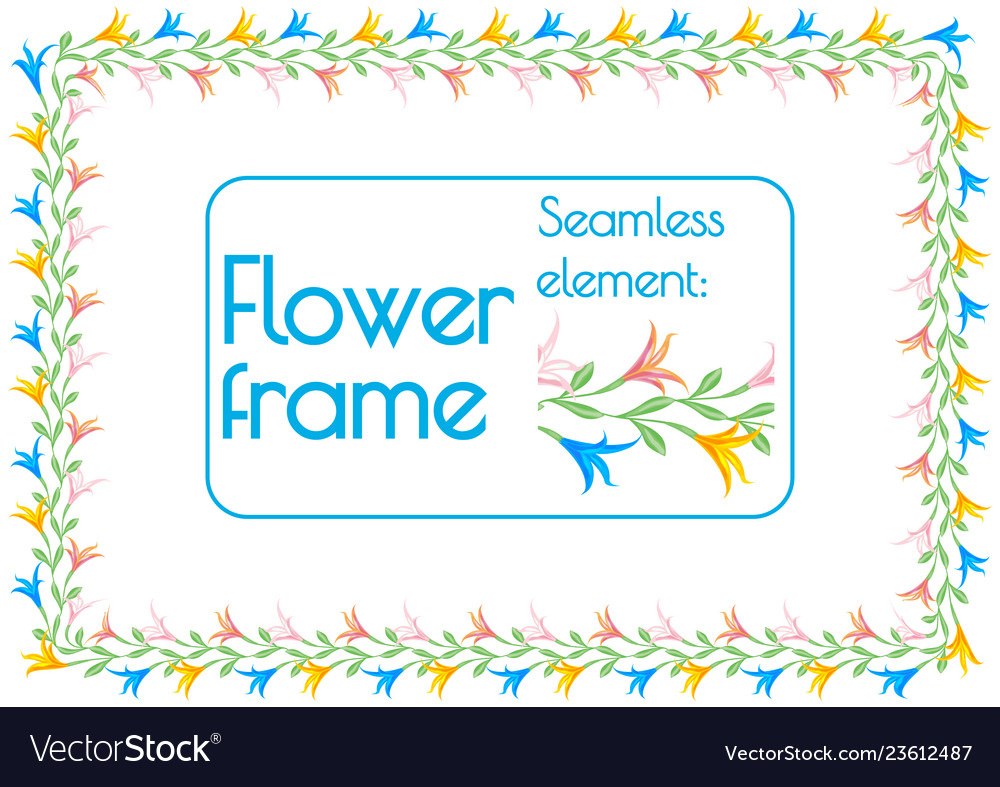 Seamless element brush to create a floral photo