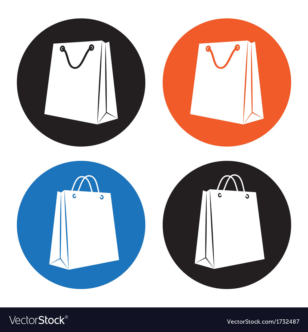 Shopping bag icons