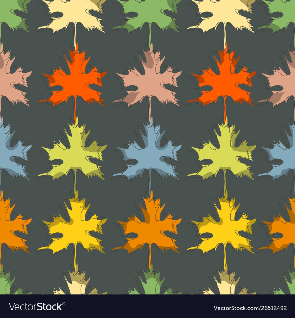 Fall seasonal background maple leaf seamless