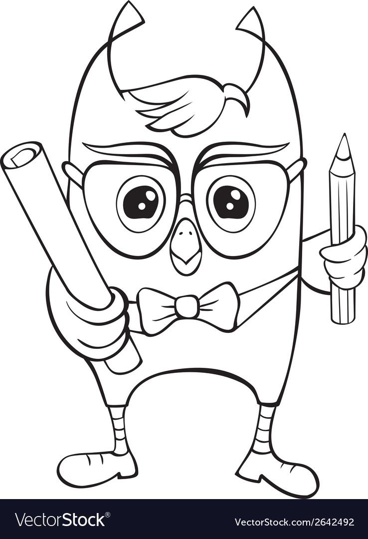 Funny scientific owlet