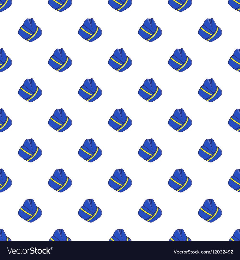 b628ea7c9db Hat stewardess pattern cartoon style Royalty Free Vector
