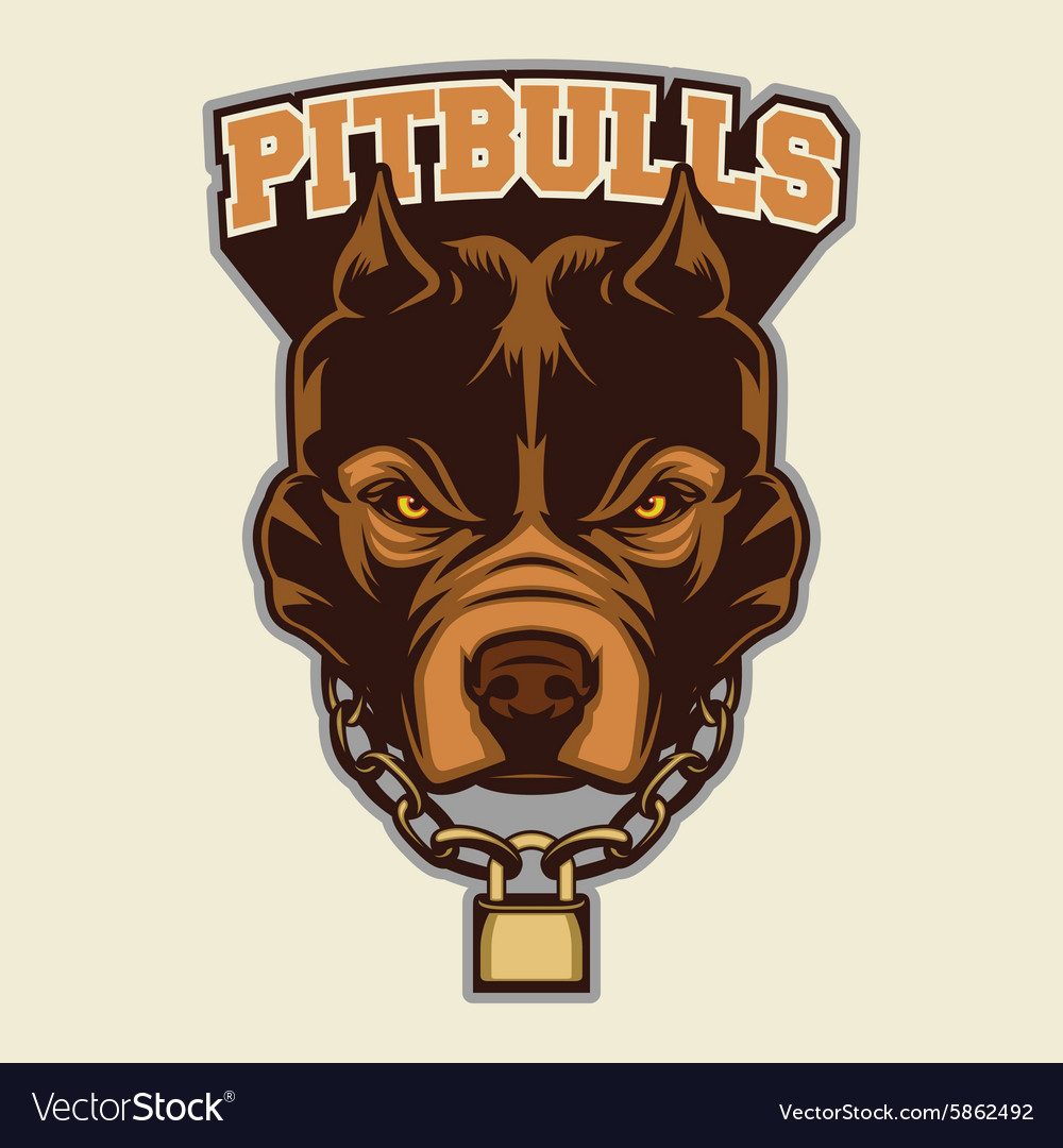 Pitbull Head Macot