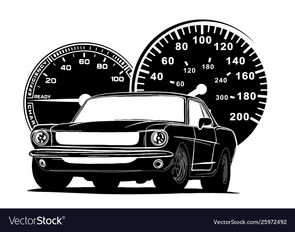 Retro muscle car vintage