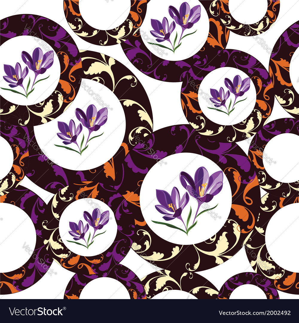 Seamless floral pattern hand-drawing