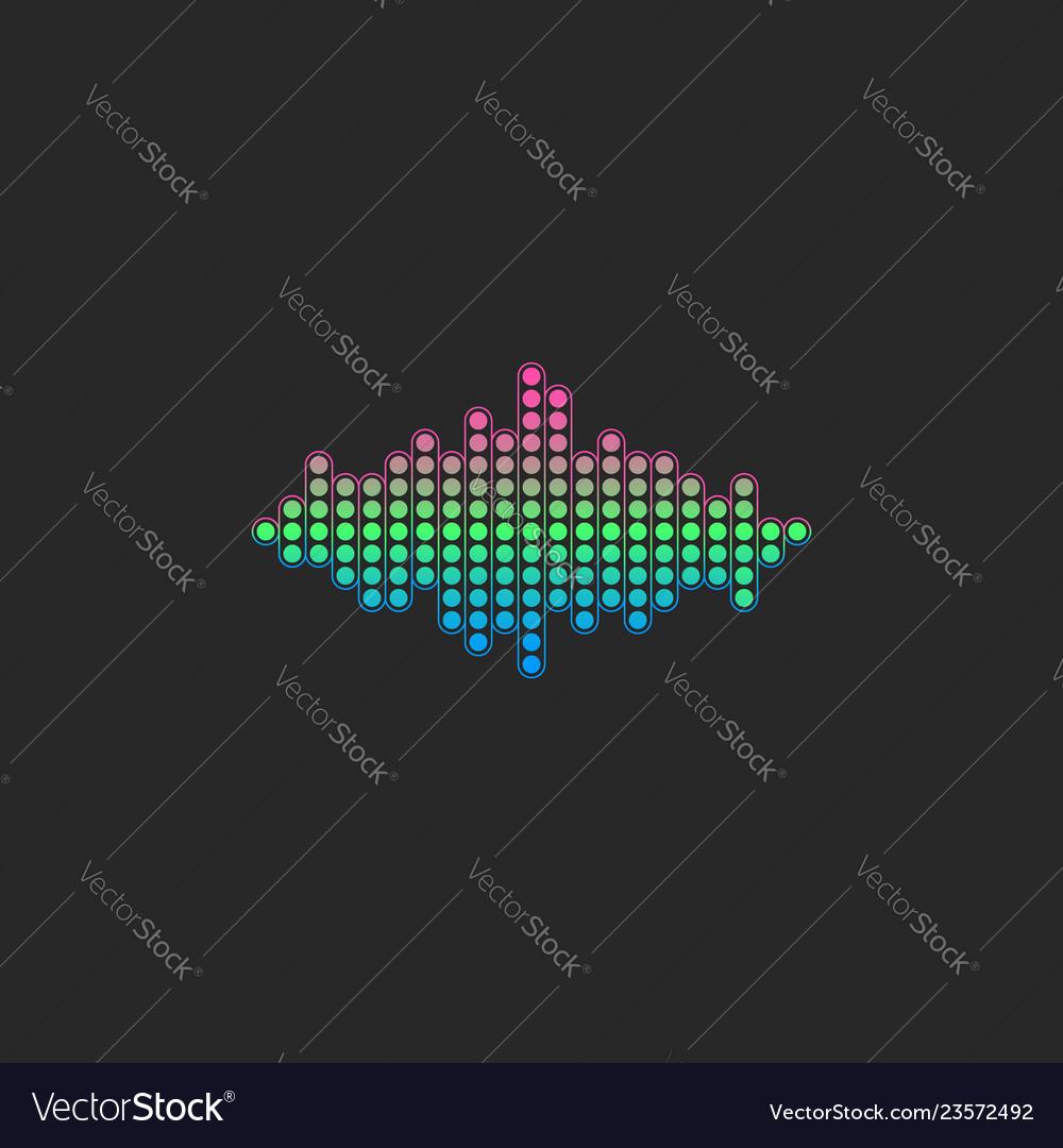 Voice sound wave logo gradient color electronic