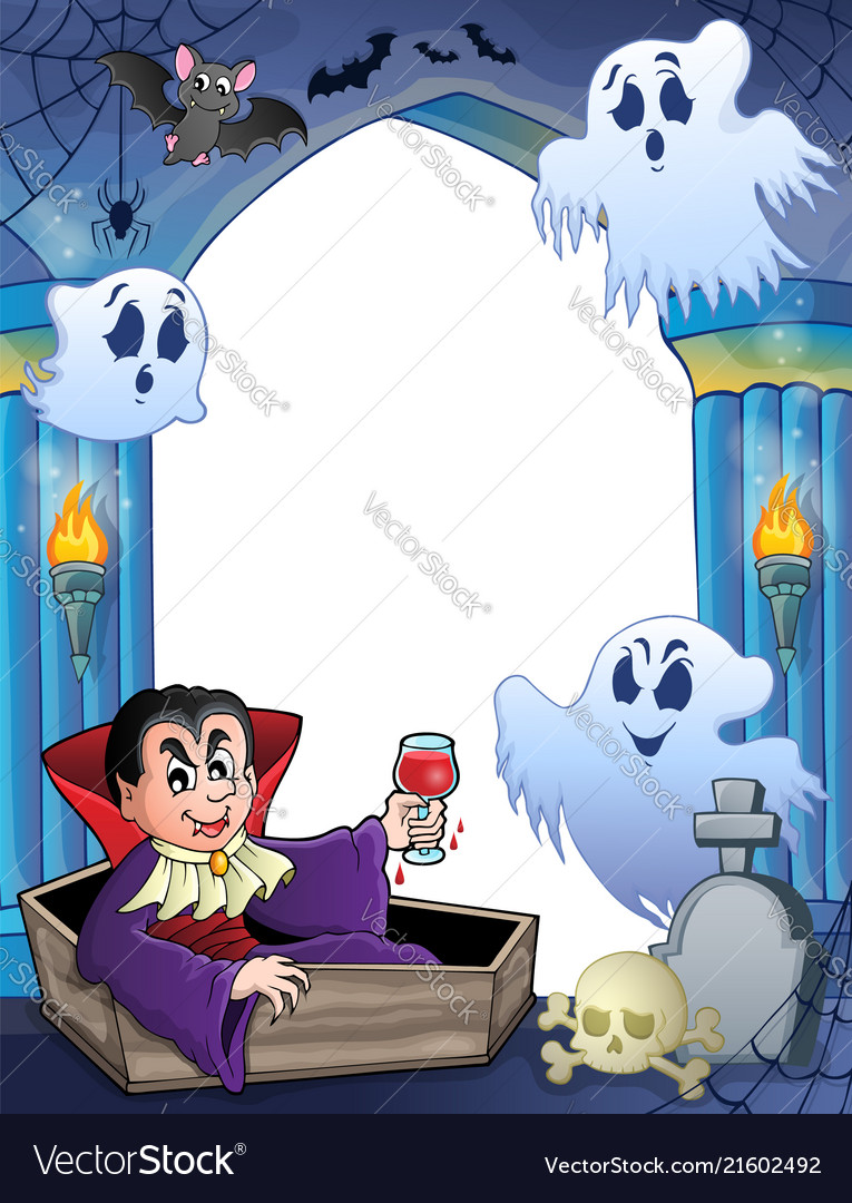 Wall Alcove With Halloween Theme 6 Vector Image