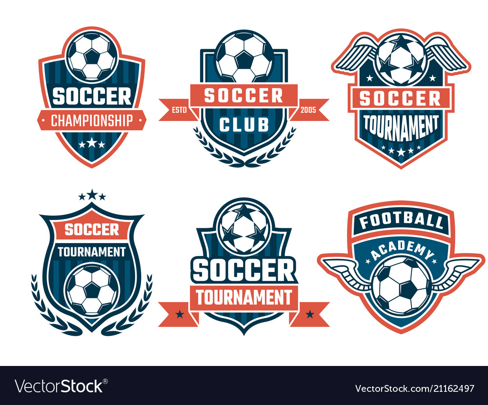 Different logos for football club labels
